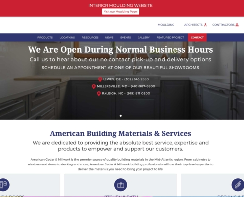 American Cedar & Millwork - Annapolis Website Designer