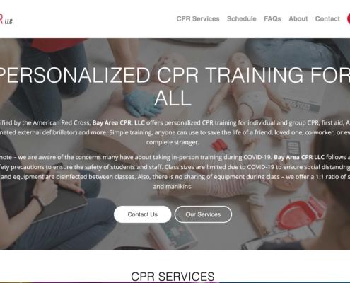 Bay Area CPR Training - Annapolis Website Designer