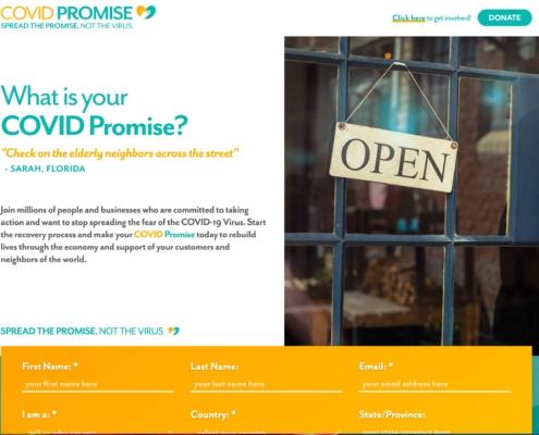 COVID Promise - Annapolis Website Designer