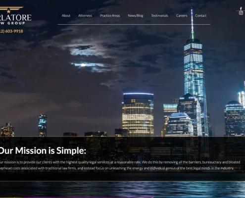 Parlatore Law - Annapolis Website Designer