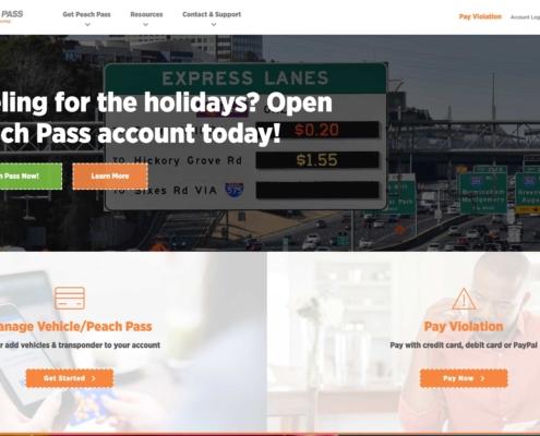 Peach Pass SRTA - Annapolis Website Designer