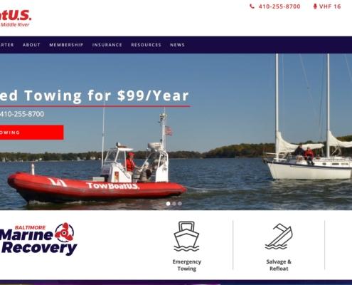 Tow Boat US - Annapolis Website Designer